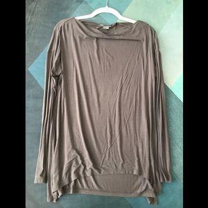 VINCE grey draped top